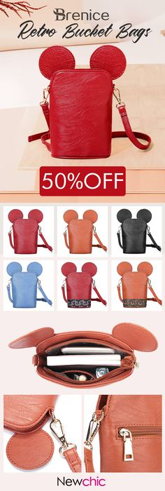 【US$21.62】Brenice Shoulder Bags Girls Cute Animal Shape Phone Crossbody Bags Bucket Bags For Women #cutebags #lovelypurse #bagsandpurse