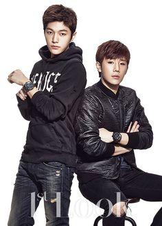 L and Sung Gyu - Look Magazine Hoya Infinite, Kim Myungsoo, Infinite Members, Nostalgia, Kim Sung Kyu, Nam Woo Hyun, Look Magazine, Woollim Entertainment, K Idol