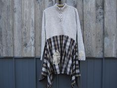 Lagenlook Boho Sweater Dress Tunic Artsy Upcycled by FreeRangeRags, $58.00