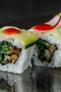 Cod tempura uramaki