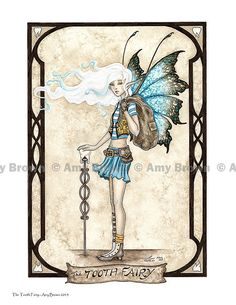 TOOTH FAIRY 8.5x11 PRINT by Amy Brown by AmyBrownArt on Etsy, $14.00