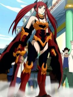 Day 22..... Favorite Anime Weapon or gear or armor: Erza's Fire Empress Armor is SO COOL! #fairytail #erza