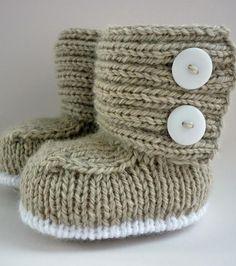 Autumn/Winter Trends 2015: Knitting - Baby Boots - Jaden baby knitting pattern by Julie Taylor - LoveKnitting blog