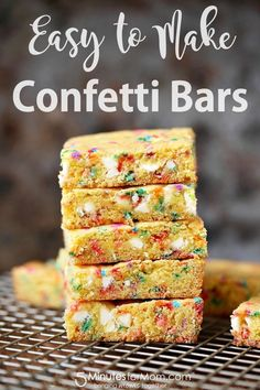 How to Make Confetti Bars - Easy Recipe - Perfect recipe to make with your kids for a fun, sweet treat.