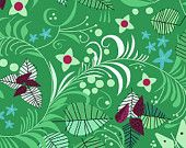 Leaves and Berries in Green - Hello Pilgrim - Lizzie House