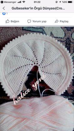 Baby Cardigan Knitting Pattern Free, Baby Knitting, Knitting Patterns, Crochet Patterns, Crochet Baby Bonnet, Baby Girl Crochet, Crochet Hats, Diy Crafts Knitting, Diy Crafts Crochet
