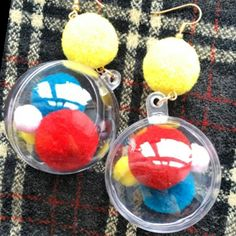 women concept - summer colorful little cotton balls in a large cute plastic balloon earrings is available at Department Golden Pineapple💁 Please PM/emails us for further info 📦📦🎁🎁📦🎁📦🎁📦🎁📦🎁(forest Plastic Balloons, Balls, Pineapple, Concept, Colorful, Happy, Earrings, Summer, Cotton