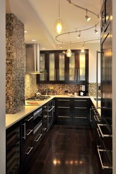 Galley Kitchen Remodel Dark Cabinets pictures of kitchens with dark cabinets colors | kitchen remodel
