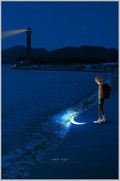 33 Ideas design art illustration night for 2019 Anime Scenery Wallpaper, Wallpaper Backgrounds, Galaxy Wallpaper, Anime Artwork, Moon Art, Night Skies, Cute Wallpapers, Aesthetic Wallpapers, Fantasy Art