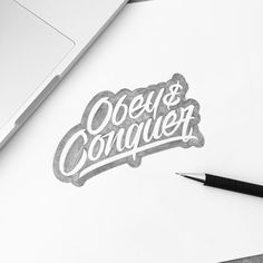 Obey&Conquer! #customtype #customlettering #customtypography #goodtype #thedailytype #type #typism #typegang #typespot #typography #typematters #brushtype #handtype #handdrawn #handmadefont #letters #lettering #letteringdesign #pen #ink #illustration #illustrated #font #design #script #sketch #drawing #thefinelab #todaystype by illesso_