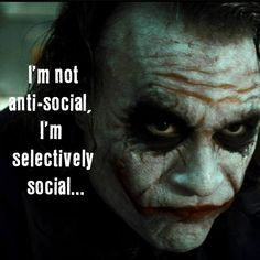 Don't know why all these quotes are placed over the Joker, but I like this one.