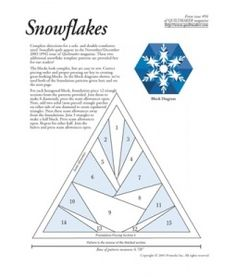 Patchwork - Quilting Snowflakes