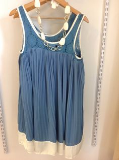 Pleated and lace dress is cool and comfy with an oversized fit!