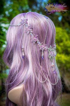 Waterlily Princess Circlet by BlingGoddessBoutique on Etsy, $149.00 So expensive, and drop dead gorgeous(and reserved for someone else).