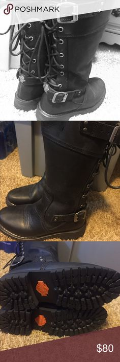 Women's Harley Davidson riding boots Almost new rarely worn Harley (Alexa) riding boots great condition 80.00 Harley-Davidson Shoes Combat & Moto Boots