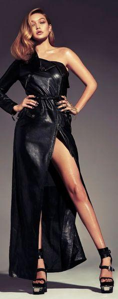 1ff2ecc74e7 Fierce fashion   karen cox. Gigi Hadid. Fashion Leather Design