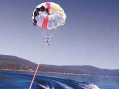 You know you want to do this! Parasailing over Lake Tahoe! #bucketlist