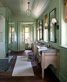 like the walls and ceiling...21 Gorgeous farmhouse style bathrooms you will love