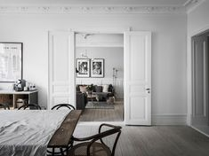 Grey and white in charming Swedish apartment