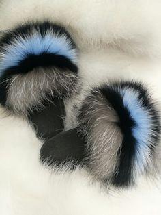 322c7ad86e5d 2018 New Summer Women Fox Fur Slides.