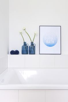 Our guest bathroom with hand-drawn bubble bath picture. Bath Pictures, Bubble Bath, Organic Beauty, How To Draw Hands, Bubbles, Hand Drawn, Bathrooms, Skincare, Soup