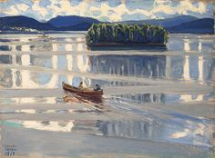 Lake Keitele, 1919 by Akseli Gallen-Kallela on Curiator, the world's biggest collaborative art collection.
