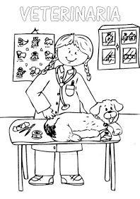 Rayito De Colores Veterinarios Para Colorear Veterinaria Dibujo Gatito Para Colorear Ilustraciones De Dibujos Animados