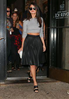 J.Crew comme Selena Gomez: la jupe plissée = <3