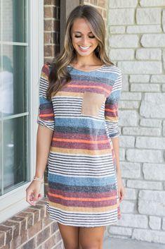 018876af26 Glowing Fondness Striped Dress CLEARANCE