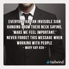 Everyone wants to feel important - this is especially applicable to your customers and clients. Make them feel important and special. They will be loyal to you if you're loyal to them. #wednesdaywisdom #customerservice #serveothers