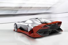 The future vision of an electric race audi hitting some circuit banking in 2039. Again?