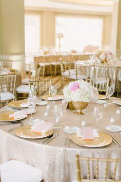 Photography: Aly Carroll Photography - www.alycarroll.com  Read More: http://www.stylemepretty.com/2015/03/12/elegant-blush-gold-summer-wedding/