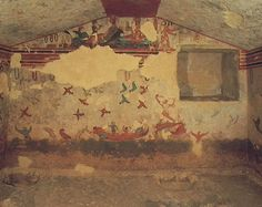 tomb of hunting Etruscan
