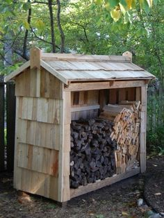 Firewood Storage on Pinterest | Firewood Shed, Firewood Rack and ...