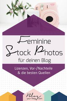 Feminine Stock Photos für deinen Blog - Lizenzen, Vor- und Nachteile & die besten Quellen