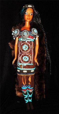 Native American Indian Princess barbie doll ooak world repaint dakotas.song