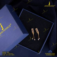 Get in touch with us on 990 444 3030 Gold Jewelry Simple, Gold Rings Jewelry, Anklet Jewelry, Diamond Jewelry, Latest Earrings Design, Gold Earrings Designs, Gold Jewellery Design, Mini Hoop Earrings, Small Earrings