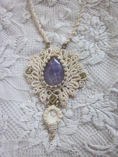 collar de amatista blanco de la boda joyería de la diosa