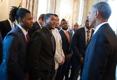 President Obama and the New England Patriots.