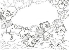 Five Little Monkeys Sitting In A Tree Coloring Page From Category Select 27278 Printable Crafts Of Cartoons Nature Animals