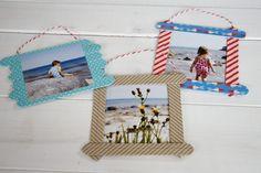 Anzeige: Mit PixelNet Fotoabzügen Bilderrahmen aus Holzstäbchen basteln - Lavendelblog