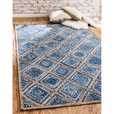 Indian Braided Jute Rug Rag Blue Color Floor Decor Rugs Hand Woven Natural Jute area Rugs for Home Decor Rugs Beautiful Rugs Size Feet - Braided Rugs DiyDemo Extra Large Area Rugs, Braided Rugs, Jute Rug, Woven Rug, Natural Rug, Blue Area Rugs, Rugs On Carpet, Carpets, Floor Rugs