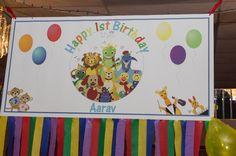 Banner - Baby Einstein themed 1st bday party