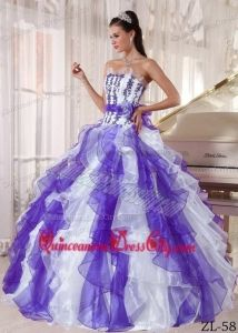 http://www.quinceaneradresscity.com/white-and-purple-strapless-floor-length-organza-beading-quinceanera-dress-g2865.html