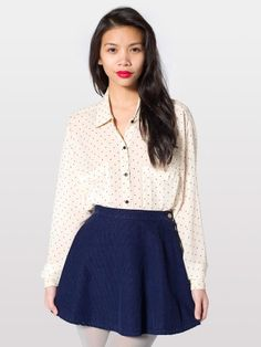 Corduroy Circle Skirt from American Apparel