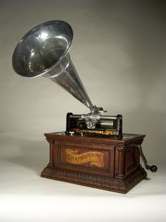 Vintage Phonograph Grammophon Gold-version Horn Gramophone Retro Music-machine