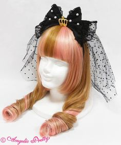 Angelic Pretty Princessベールチュールカチューシャ