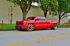 2015 Chevrolet Silverado 3500 HD LTZ 4WD Dually Turbo Diesel Sema Show Truck 57 Chevy Trucks, Dually Trucks, Lowered Trucks, Chevy Pickups, Diesel Trucks, Lifted Trucks, Pickup Trucks, Silverado 3500, Chevrolet Silverado
