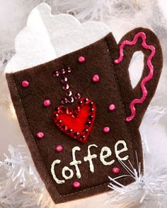DIY Gift Card Holder - a fun gift card holder for the coffee lover in your life! | FaveCrafts.com