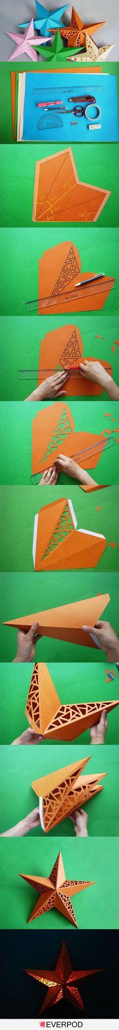 Combo. Star and papercut snowflake - pretty.                                                                                                                                                                                 More